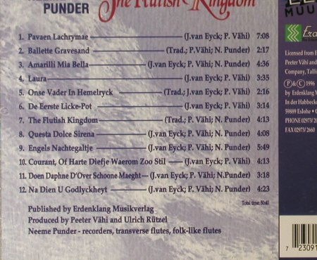 Punder,Neeme: The Flutish Kingdom, Erdenklang(60932), D, 1996 - CD - 84097 - 7,50 Euro