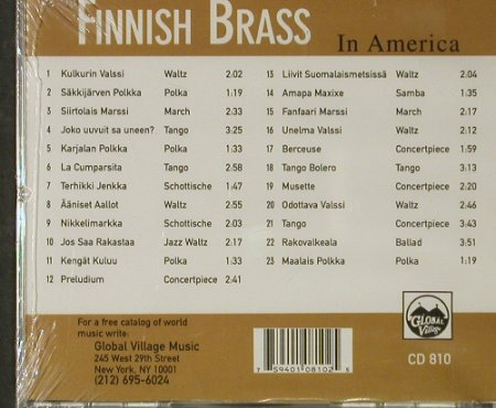 Finnish Brass: In America, FS-New, Global Village(810), CDN, 1994 - CD - 92846 - 15,00 Euro
