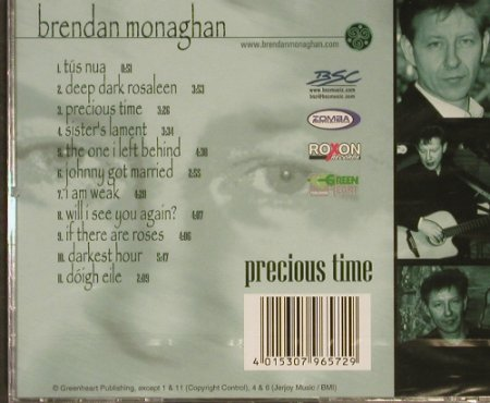 Monaghan,Brendan: Precious Time, FS-New, Greenheart(307.9657.2), EU,  - CD - 92993 - 6,00 Euro