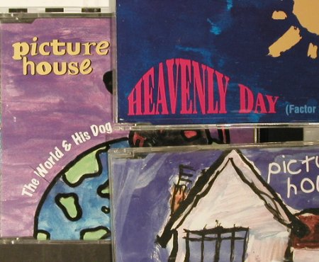 "Picture House: Heavenly Day,Probably,The World is., Koch(), '96'97,  - CD5""x3 - 93572 - 4,00 Euro"
