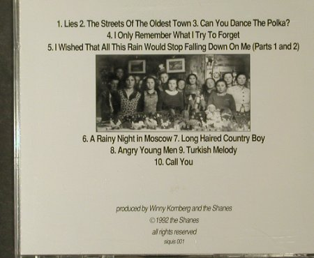 Shanes,The: Songs From Urban Country Hell, Shanes(siquis 001), D, 1992 - CD - 95121 - 10,00 Euro