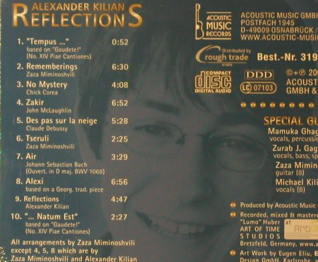 Kilian,Alexander: Reflections, Digi, FS-New, Acoustic Music(319.1328.2), D, 2004 - CD - 95956 - 7,50 Euro