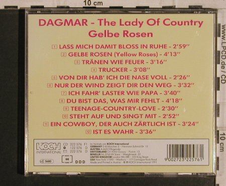 Dagmar: Gelbe Rosen-The Lady of Country, Koch(322 576), A, 1991 - CD - 82066 - 15,00 Euro