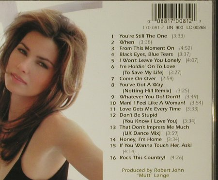 Twain,Shania: Come On Over, Mercury(170 081-2), EU, 1998 - CD - 83867 - 7,50 Euro