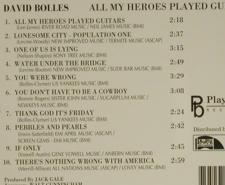 Bolles,David: All my Heroes Played Guitars, Playback(), US, 1993 - CD - 83868 - 5,00 Euro