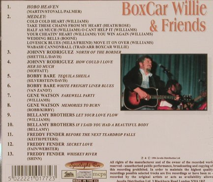 Boxcar Willie & Friends: Gentlemen of Country, Javelin(HADcd177), UK, 1994 - CD - 83907 - 10,00 Euro