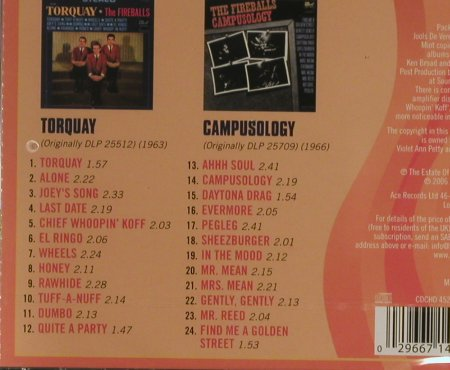 Fireballs: Torquay/Campusology, FS-New, ACE(), D, 2006 - CD - 93296 - 11,50 Euro