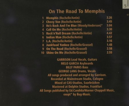Garrison: On The Road To Memphis, FS-New, Castle(), UK, 1996 - CD - 95014 - 5,00 Euro