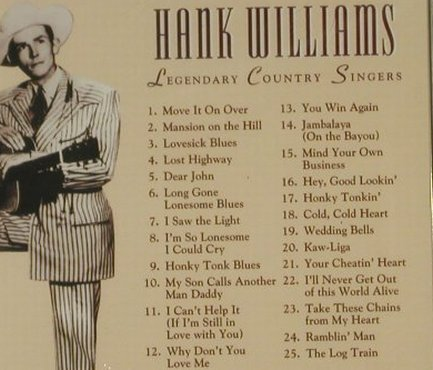 Williams,Hank: Legendary Country Singers, 12 Tr., Time Life(C26300GG53), EU FS-New, 2002 - CD - 95292 - 10,00 Euro