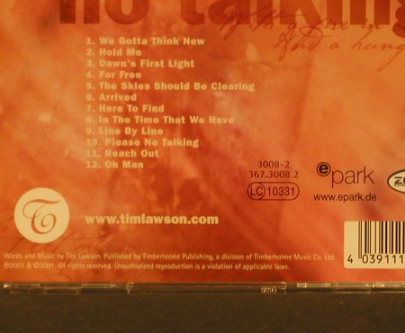Lawson,Tim: Please no Talking, Timberholm(), D, 01 - CD - 96971 - 5,00 Euro