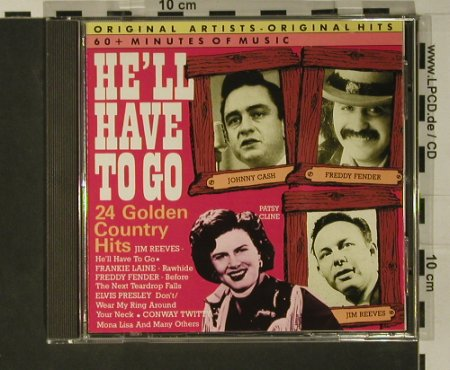 V.A.He'll Have To Go: 24 Golden Country Hits, Yesterdays Gold(CD YDG 74610), P, 1987 - CD - 97800 - 5,00 Euro