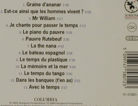 Leotard,Philippe: Chante Ferre, Columbia/Gorgone(COL 475801 2), NL, 1994 - CD - 81364 - 10,00 Euro