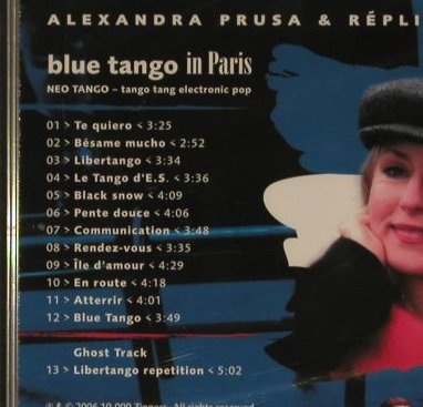 Prusa,Alexandra & Replica Norma: Blue Tango in Paris, 10.000 Zippers(), D, 2006 - CD - 97103 - 7,50 Euro