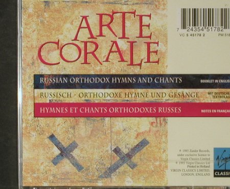 Arte Corale: The Soul of Eternal Russia, FS-New, Virgin/Zander(), NL, 1995 - CD - 92795 - 7,50 Euro