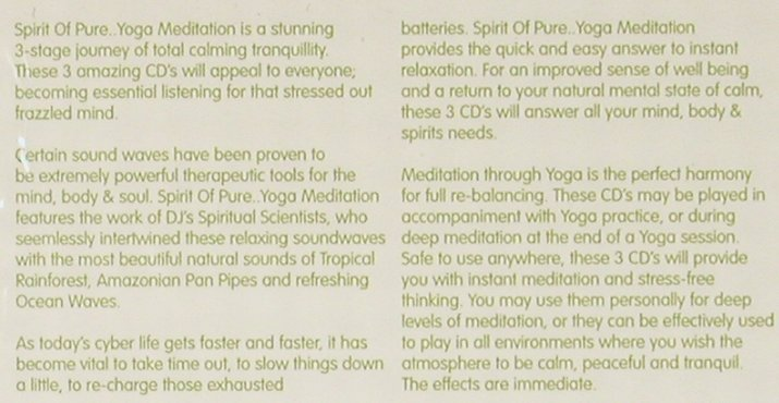 V.A.Spirit of Pure: Yoga Meditation, FS-New, Beechwood(), UK, 2004 - 3CD - 93020 - 9,00 Euro