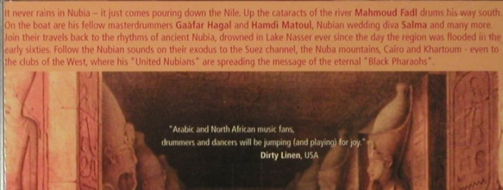 Fadl,Mahmoud: The Drummer of the Nile go South, Piranha(CD-PIR1579), FS-New, 2001 - CD - 93476 - 10,00 Euro