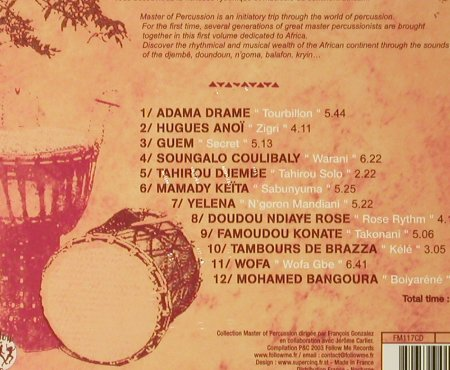 V.A.Master of Percussion 1: Africa, Digi, FS-New, Follow Me(), F, 2003 - CD - 93654 - 12,50 Euro