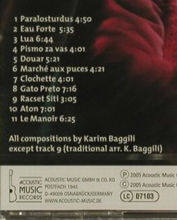 Baggili,Karim: Douar, FS-New, Acoustic Music(319.1363.2), D, 2005 - CD - 94884 - 10,00 Euro