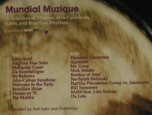 V.A.Mundial Muzique: 10Tr. A Select. modern.Afro,Carib, Guidance(), EU, 99 - CD - 97460 - 7,50 Euro