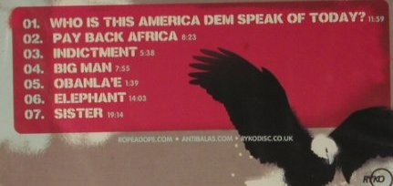 Antibalas: Who is this America?, FS-New, Ryko(RCD160048), EU, 2004 - CD - 98708 - 10,00 Euro