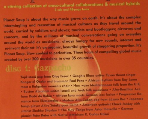 V.A.Planet Soup: Box Set, Booklet, Ellipsis Arts(CD3450), US, 1995 - 3CD - 99275 - 15,00 Euro