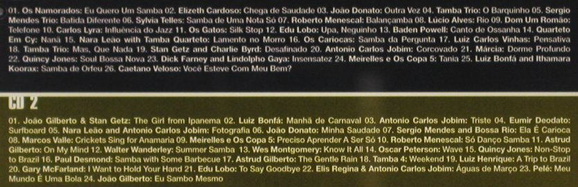 V.A.A Trip to Brazil: 40 Years of Bossa Nova,Vol.1, Motor(), D, 1998 - 2CD - 65184 - 11,50 Euro