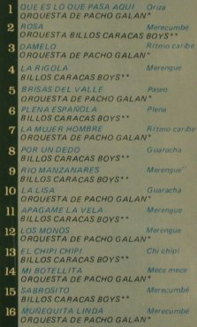 Billo's Caracas Boys & Pacho Galan: Con Victor Pineros, Tropical(D16096), Columbia, 1991 - CD - 80382 - 10,00 Euro
