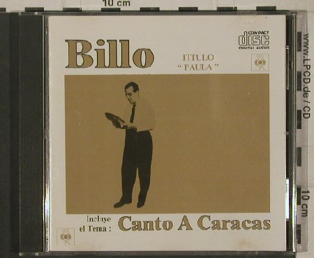 Billo: Paula, CBS(CDDI-27315), US, Ri, 1988 - CD - 80384 - 10,00 Euro