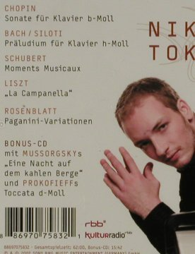 Tokarew,Nikolai: No.1. Chopin,Liszt,Schubert,Bach..., Sony(8869 7075832), , 2007 - 2CD - 81467 - 6,00 Euro