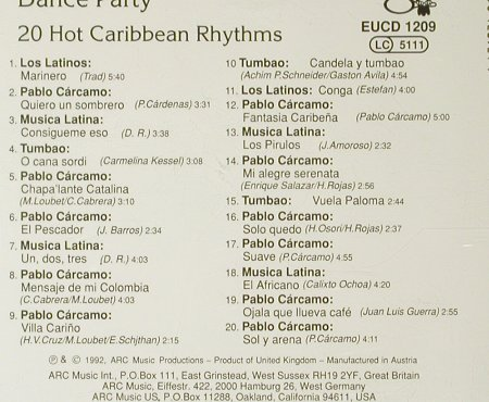 V.A.Caribbean Tropical Dance Party: 20 Hot Caribbean Rhythms, ARC(), , 1992 - CD - 84126 - 7,50 Euro