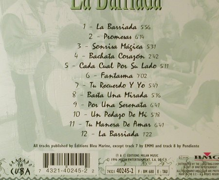La Barriada: Same, Milan(40245-2), EU, 1996 - CD - 95985 - 15,00 Euro