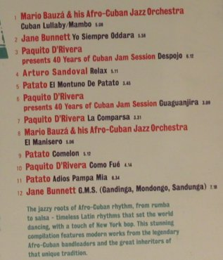 V.A.Afro-Cuba: The Jazz Roots of Cuban Rhythm, Nascente(), , 95 - CD - 97481 - 5,00 Euro