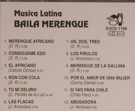 Musica Latina: Baila Merengue, ARC Music(EUCD 1198), A, 1992 - CD - 99606 - 7,50 Euro