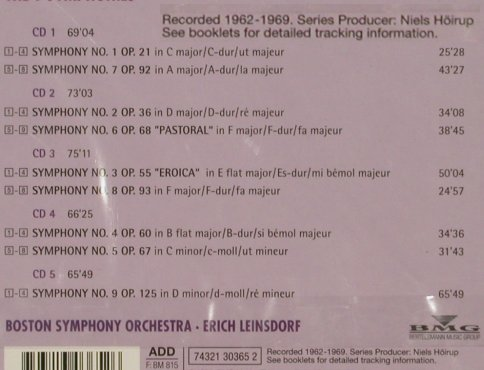 Beethoven,Ludwig van: The 9 Symphonies, Box Set, FS-New, RCA(74321 30365 2), D, 1995 - 5CD - 80319 - 40,00 Euro
