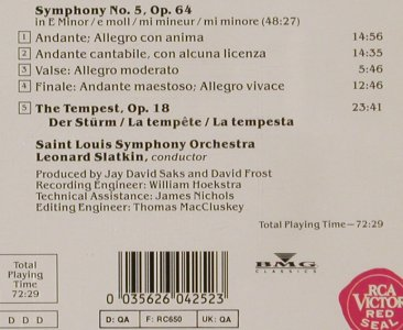 Tschaikovsky,Peter: Symphony No.5- The Tempest, RCA Victor(RD 60425), D, 1990 - CD - 80338 - 10,00 Euro