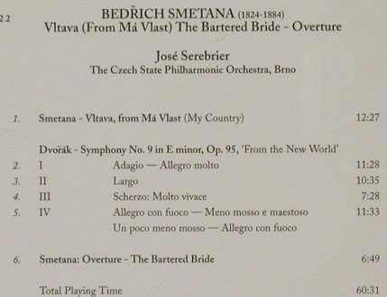 Dvorák,Antonín / Smetana: Symphony No. 9/The Bartered Bride, Conifer Classics(75605 51522 2), UK, 1995 - CD - 80360 - 10,00 Euro