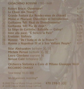 Rossini,Gioacchino: Rossini Discoveries, Decca(470 298-2), D, 2002 - CD - 80460 - 7,50 Euro