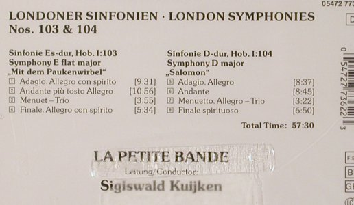 Hayden,Joseph: London Symphonies 103 & 104, DHM/BMG(05472 77362 2), D, FS-New, 1997 - CD - 80978 - 7,50 Euro