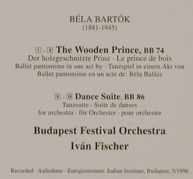 Bartók,Béla: The Wooden Prince, Dance Suite, Philips(), D, 1997 - CD - 81255 - 9,00 Euro