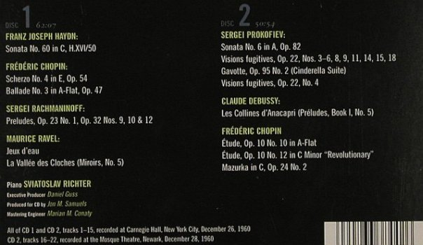 Richter,Sviatoslav: ReDiscovered, RCA(09026-63844-2), US, 2001 - 2CD - 81257 - 12,50 Euro