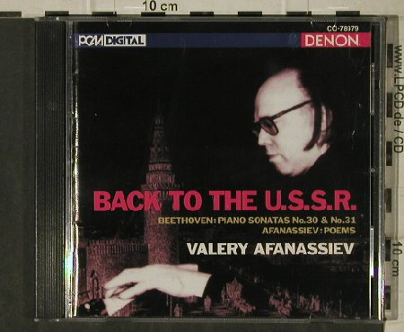 Beethoven,Ludwig van: Back to the USSR,Sonatas No.30 & 31, Denon(CO-78979), US, 1996 - CD - 81356 - 12,50 Euro