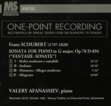 Schubert,Franz: Sonata for Piano i.G Major,op78/894, Denon(CO-78923), J, 1994 - CD - 81401 - 7,50 Euro