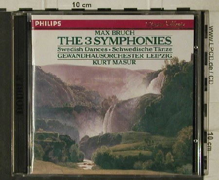 Bruch,Max: The 3 Symphonies, op.28,36,51, Philips(420 932-2), D, 1988 - 2CD - 81511 - 7,50 Euro