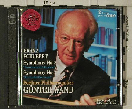 Schubert,Franz: Symphony No.8 & 9, Great/Unfinished, RCA Victor Red Seal(09026 68314 2), EC, 1995 - 2CD - 81513 - 7,50 Euro