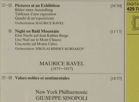 Mussorgsky,Modest / Ravel: Pictures at an Exhibition/Night on., D.Gr.(429 785-2), D, 1990 - CD - 81529 - 7,50 Euro