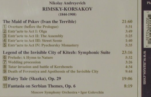 Rimsky-Korsakov,Nicolai: The Maid of Pskov, Naxos(8.553513), , 2000 - CD - 81531 - 5,00 Euro