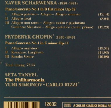 Scharwenka,Xaver: Piano Concerto No.1,b flat m,op.32, Collins(12632), UK, 1991 - CD - 81611 - 20,00 Euro