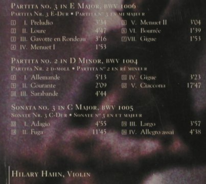 Hahn,Hilary: plays Bach, Sony(SK 62793), , 1997 - CD - 81621 - 5,00 Euro