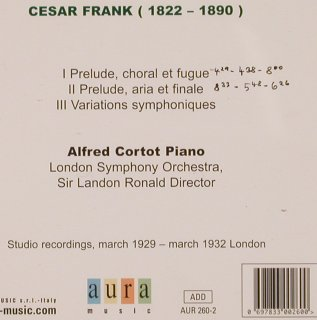 Frank,Cesar: Piano Works, aura(AUR 260-2), I, 2003 - CD - 81706 - 5,00 Euro