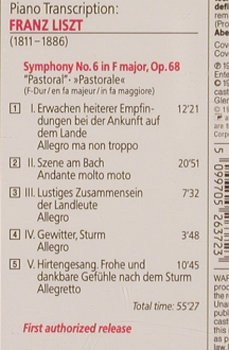 Beethoven,Ludwig van/Liszt: Piano Transciption/Symph.No.6,op.68, Sony(), A, 1993 - CD - 81835 - 7,50 Euro